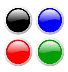 Buttons set color vector