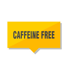 Caffeine free price tag vector