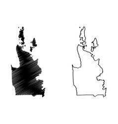 caraga region map vector image