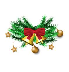 christmas decoration on white background vector image