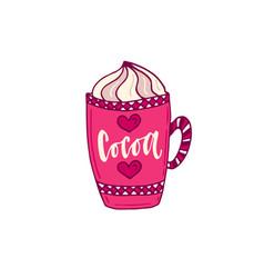 cocoa icon hand drawn vector image
