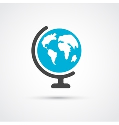 Color globe flat icon vector image