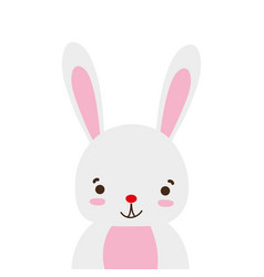 Colorful adorable and happy rabbit wild animal vector