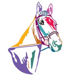 Colorful decorative horse 1 vector