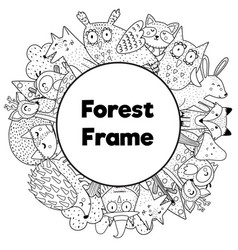 coloring book style frame with place for your text vector image