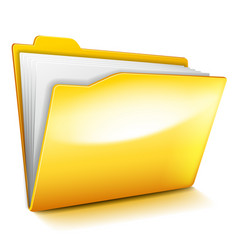 computer folder isolated on white vector image
