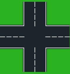 Crossroad vector