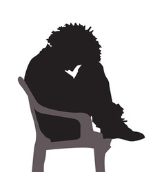 Depressed silhouette vector