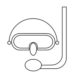 Diving mask icon in outline style vector image