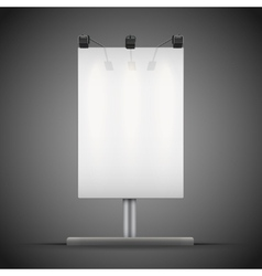 Empty mockup billboard with spotlights and vector
