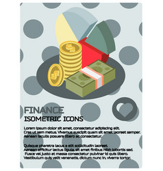 finance color isometric poster vector image