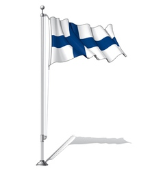 Flag Pole Finland vector