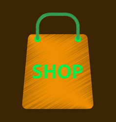 Flat icon in shading style basket shop vector