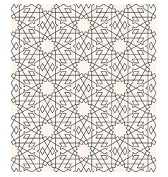 Geometric arabesque seamless pattern line art vector