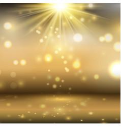 golden display background vector image vector image