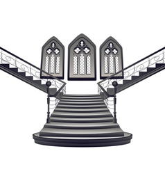 Gothic Stairs Interior5 vector