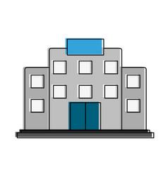 hospital building symbol vector image