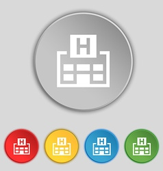 Hotkey icon sign Symbol on five flat buttons vector