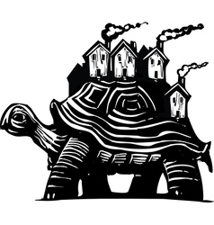 Housing Turtle vector image