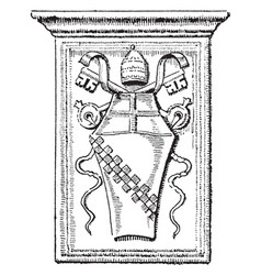 Innocent viii are pope roman shield vintage vector