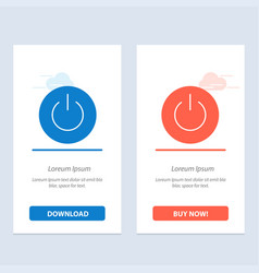 interface on power ui user blue and red download vector image