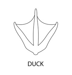 Isolated object duck and paw logo collection vector