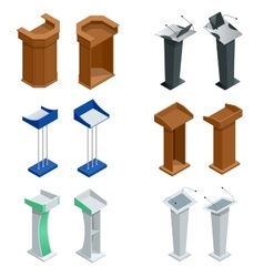Isometric rostrum podium tribune with vector