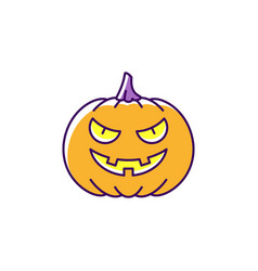 jack olantern icon halloween pumpkin colorful vector image