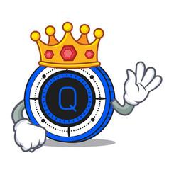 King qash coin mascot cartoon vector