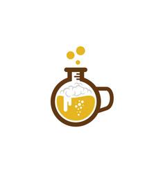 Lab beer logo icon design vector