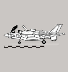 lockheed martin f-35 lightning ii vector image