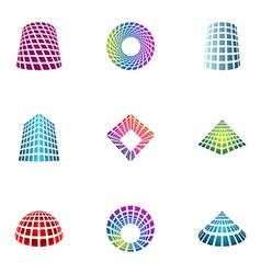 logo design elements set 30 vector image vector image
