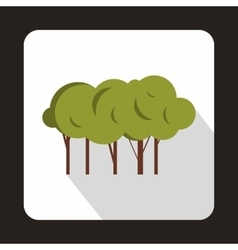 lot trees icon flat style vector image