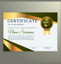 Luxury certificate template design in geometric vector