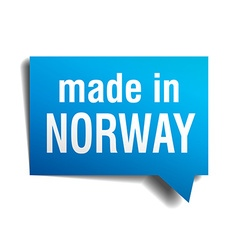 Made in Norway blue 3d realistic speech bubble vector