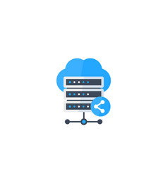Mainframe shared hosting icon vector