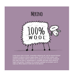 merino sheep sketch for your design vector image