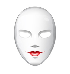 Naked White Mask vector image
