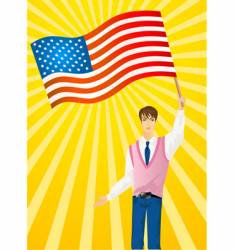 patriotic man vector image