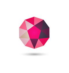 Polygonal geometric figurefor web design vector