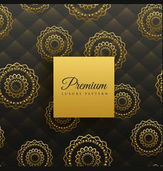 premium golden mandala seamless pattern vector image