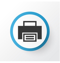 print icon symbol premium quality isolated vector image