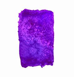 Purple watercolor stain vector