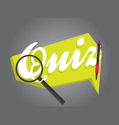 Quiz related concept vector