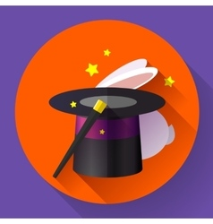 Rabbit and magic hat vector image