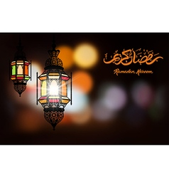 Ramadan night vector image