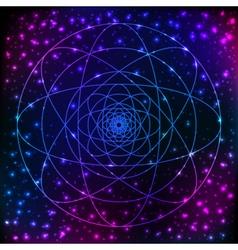 Sacred geometry symbol Mandala mystery element vector image