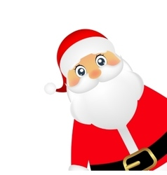 Santa Claus standing on a white background vector image