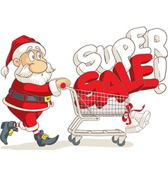 Santa Claus Super Sale Cartoon vector