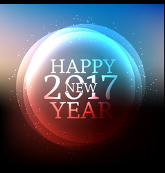 shiny happy new year 2017 background with shiny vector image vector image